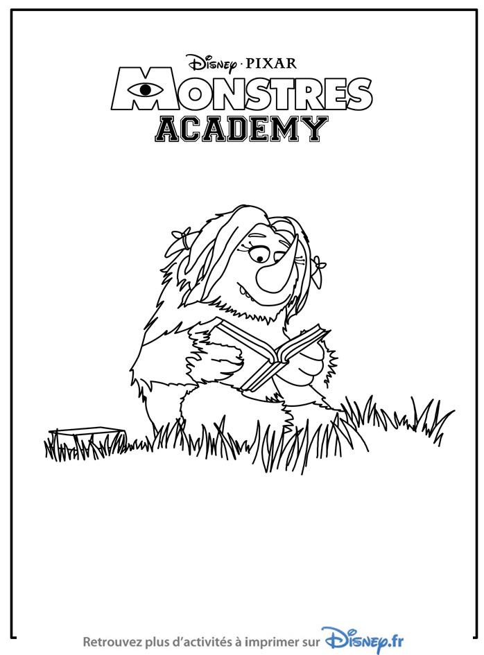 Coloriage monstres academy un monstre l 39 academy a - Monstre academy dessin ...