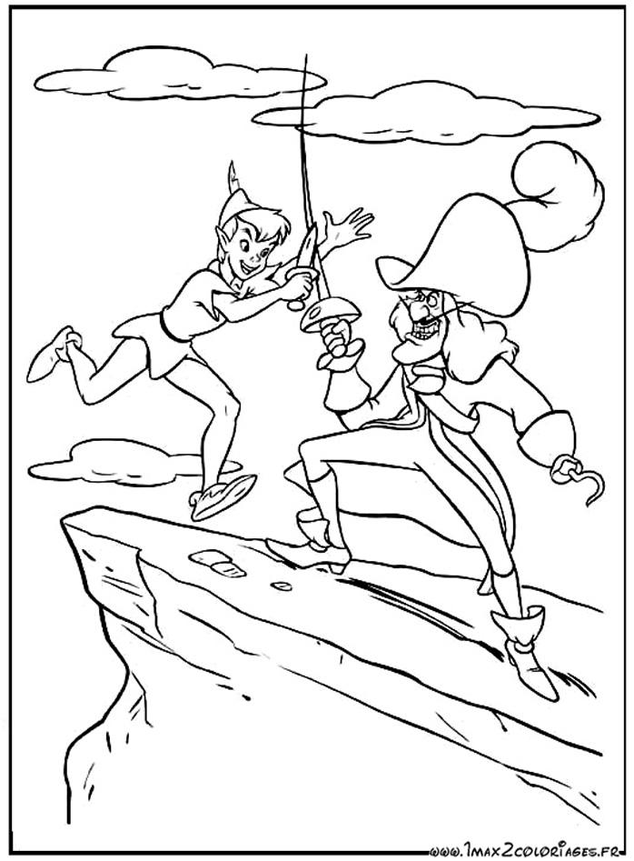 Coloriages du film du0026#39;animation de walt Disney : Peter Pan - dessin ...