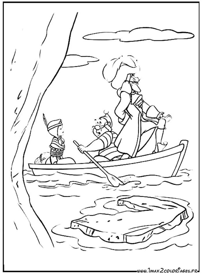 Coloriages du film d 39 animation de walt disney peter pan dessin lili la tigresse est - Capitaine crochet coloriage ...