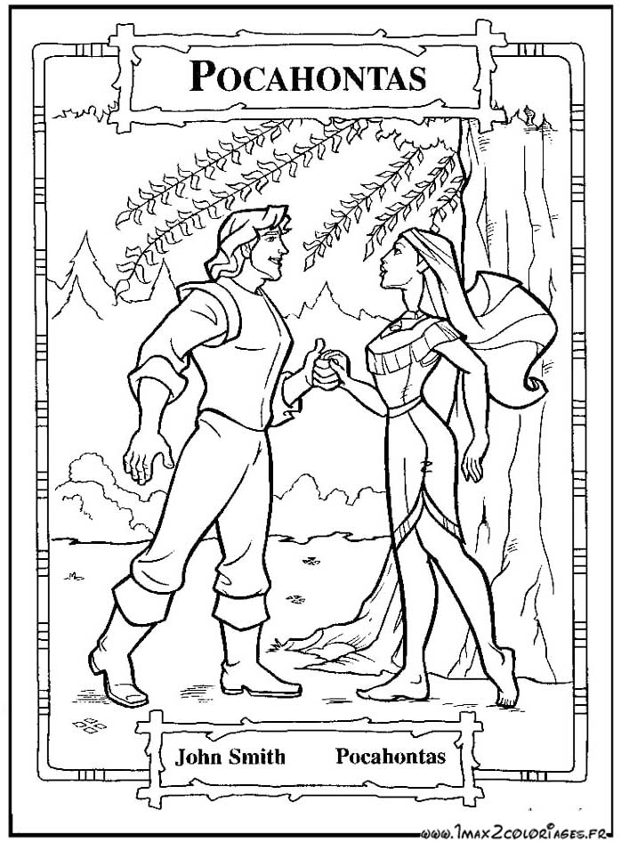 Coloriages du film d'animation de walt Disney : Pocahontas ...