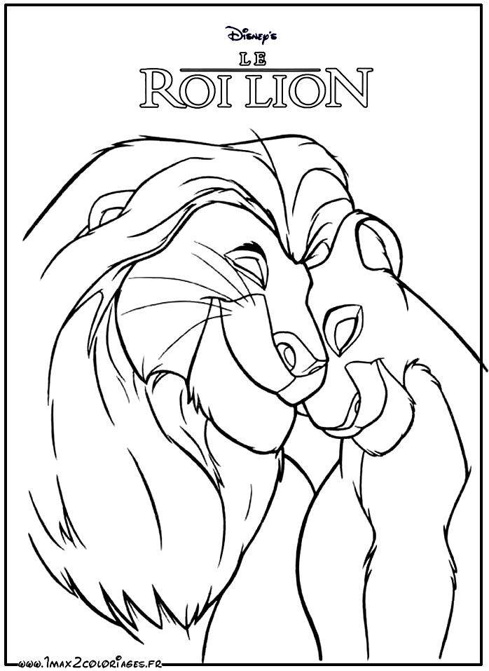 Coloriages Roi Lion De Walt Disney The Lion King Simba