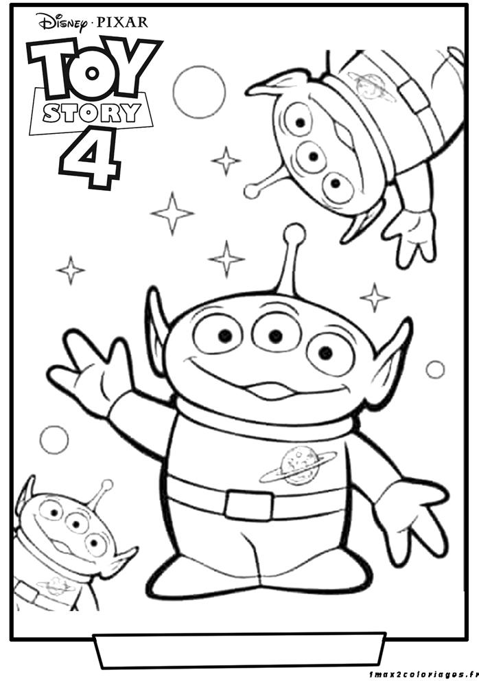 Coloriages Toy Story 4 - les aliens - toy story 4 2019 au ...