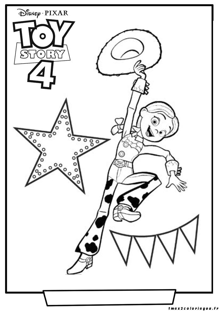 Jessie La Cowgirl à Colorier Elle Revient Dans Toy Story 4