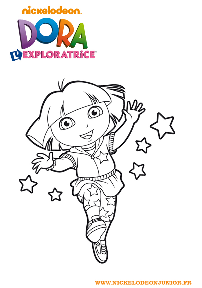 Coloriages Dora L Exploratrice Vive Dora L Exploratrice A Imprimer