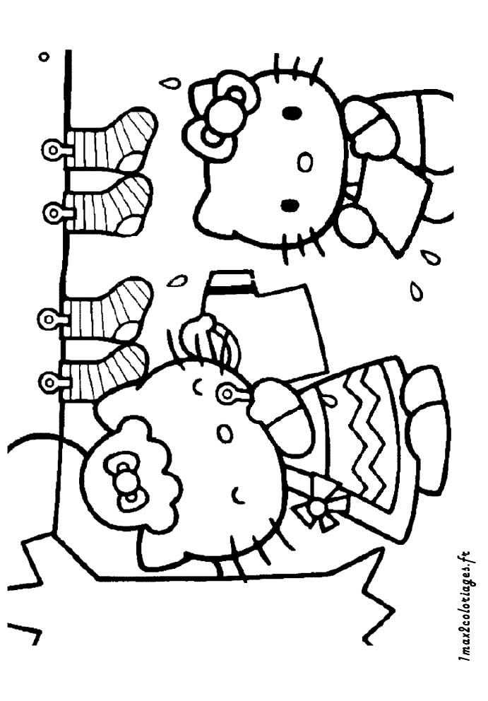 Coloriages de hello kitty a imprimer - Coloriage hello kitty et mimi ...