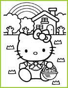 Coloriage Panier De Fraises.Hello Kitty 25 Coloriages A Imprimer Et A Colorier Pour Les