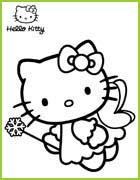 Coloriage De Fee Hello Kitty.Hello Kitty 25 Coloriages A Imprimer Et A Colorier Pour Les Petits