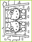 hello kitty 25 coloriages a imprimer et a colorier pour les petits. Black Bedroom Furniture Sets. Home Design Ideas