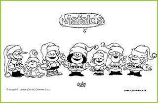 Coloriages De Mafalda Personnage Bd Dessine Par Quino