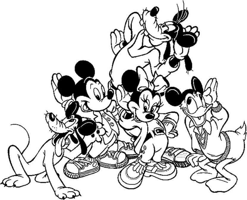 minnie mickey donald dingo et pluto