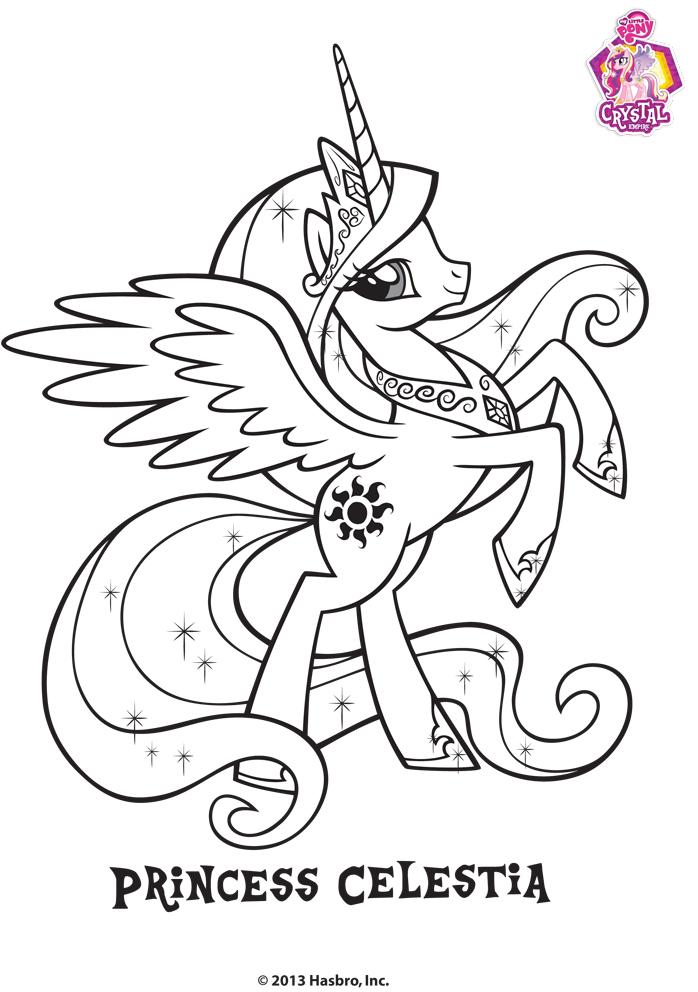 Coloriage de la princesse celestia - Coloriage princesse celestia ...