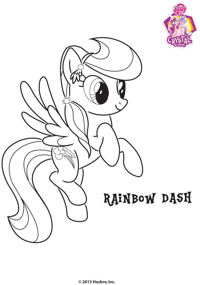 Coloriage de fluttershy rainbow dash - Petit poney coloriage ...