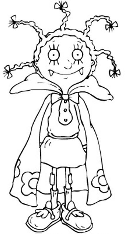 Venez colorier mona le vampire crok zappeur et princesse lily - Coloriage vampire ...