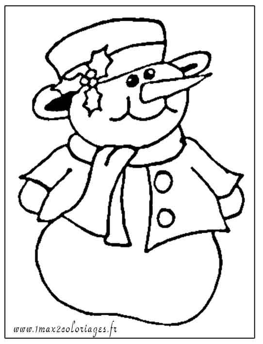 Me coloriage bonhomme de neige sur pinterest - Bonhomme de neige coloriage ...