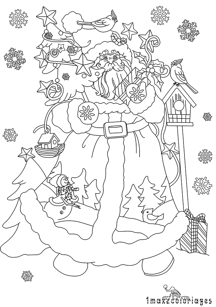 Coloriages de noel pour les petits et les grands - Coloriage village de noel ...