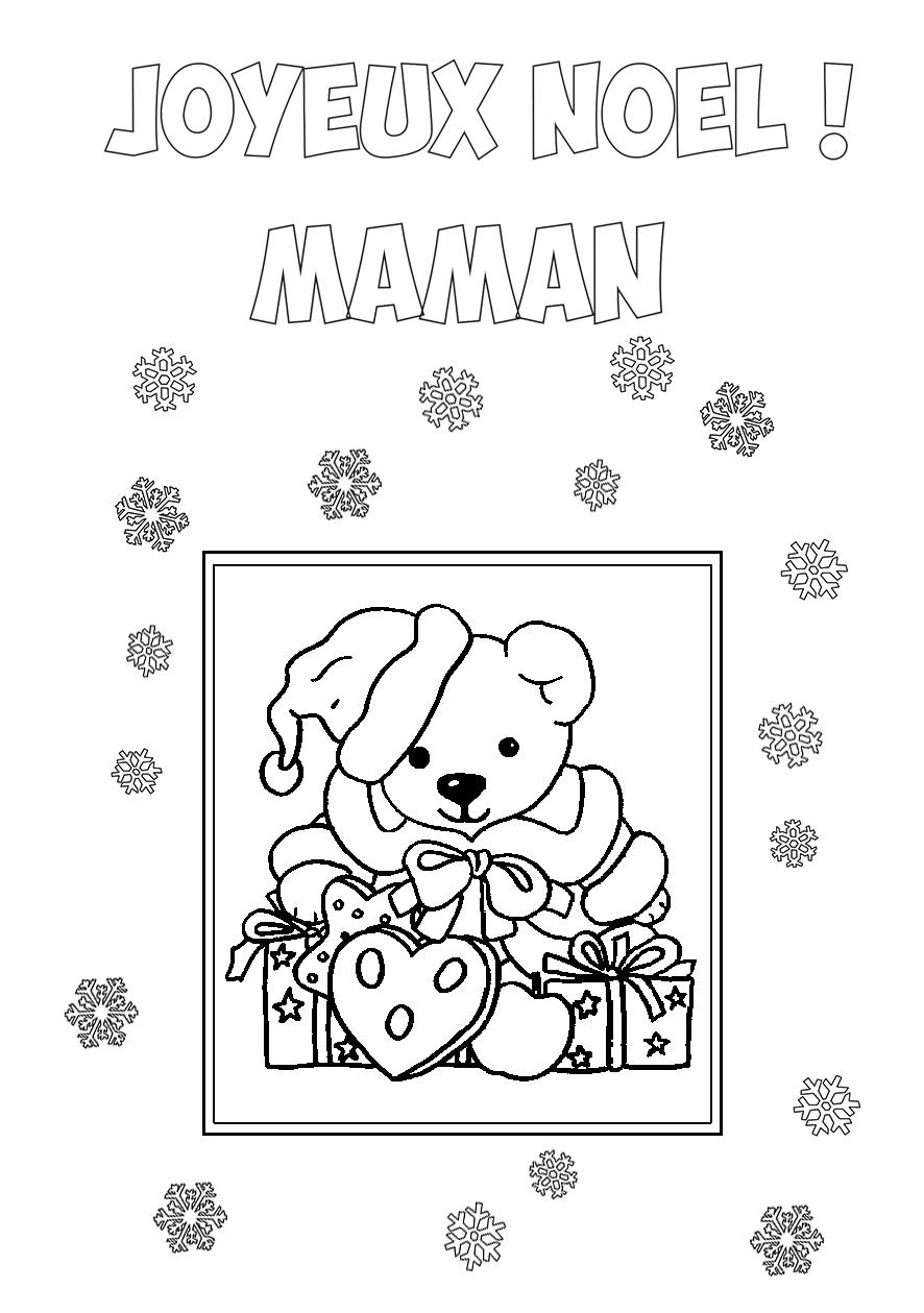 Carte De Voeux Enfant Joyeux Noël Maman