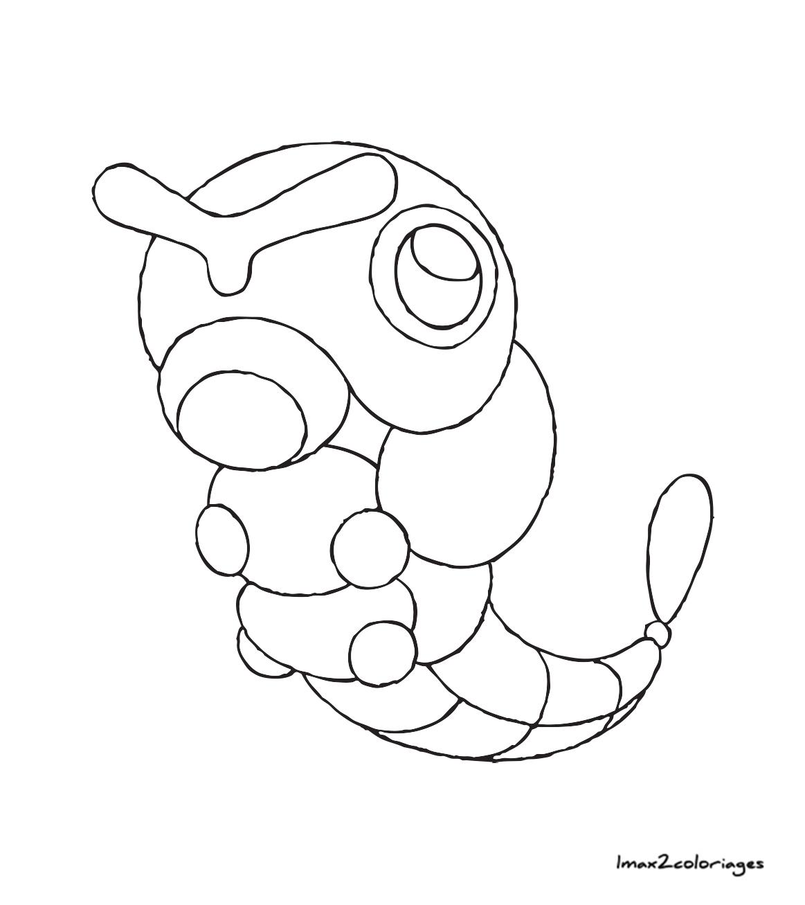 Coloriages pokemon chenipan - Coloriages pokemon ...