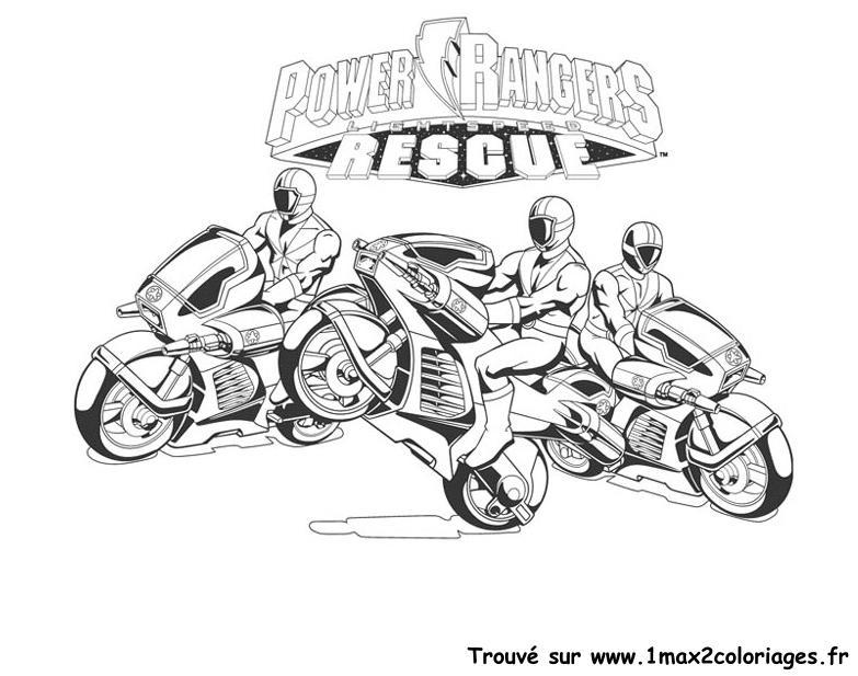 Coloriages power rangers moto power rangers - Moto power rangers megaforce ...