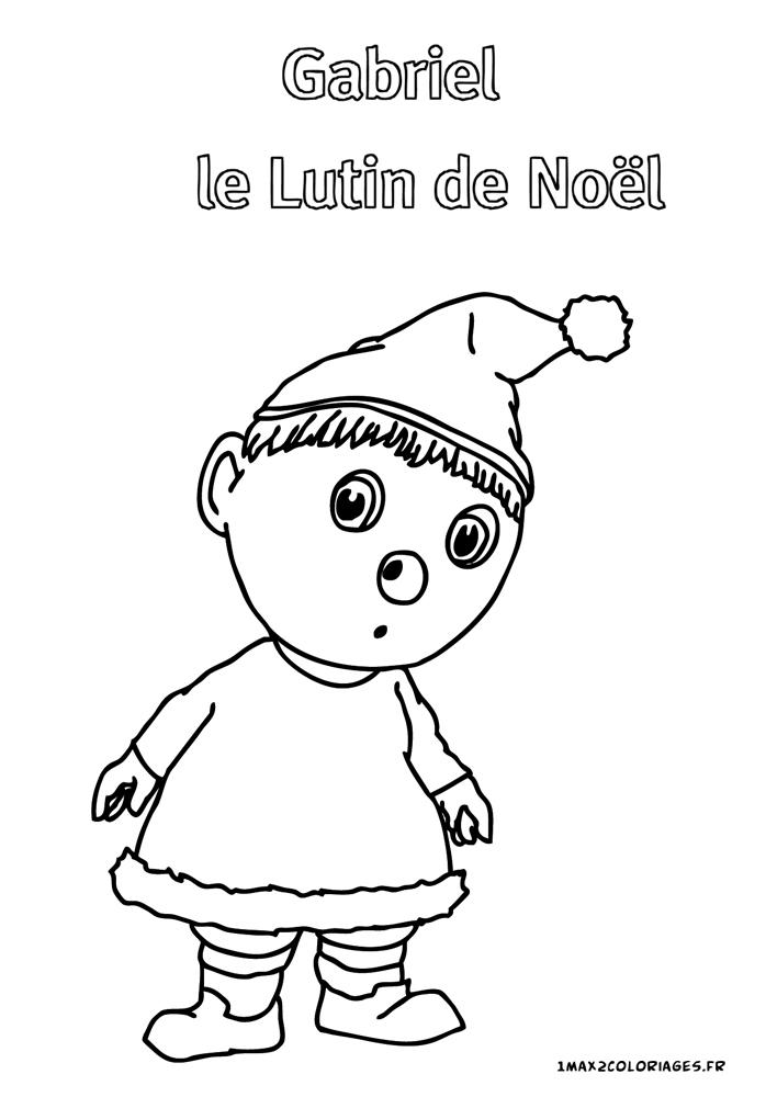 Coloriages Des Droles De Petites Betes Gabriel Le Lutin De Noel