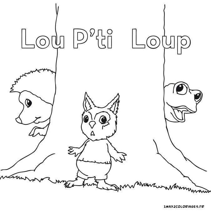 Coloriages des dr les de petites b tes lou p 39 tit loup - Lou coloriage ...