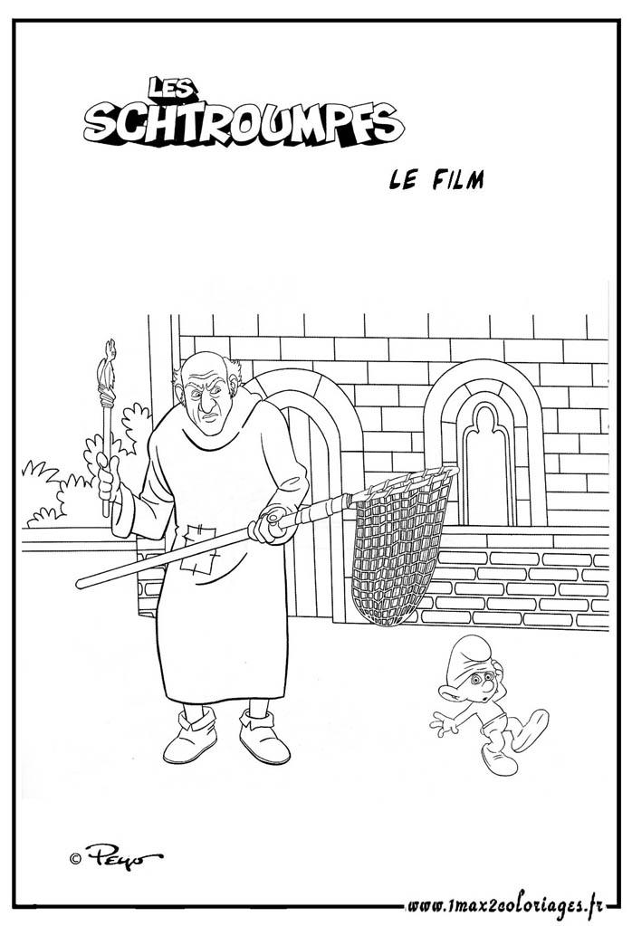 Coloriages du film les schtroumpfs gargamel veut - Gargamel dessin ...