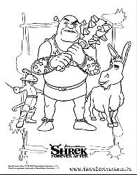Shrek shrek et re shrek les coloriages - Coloriage shrek ...
