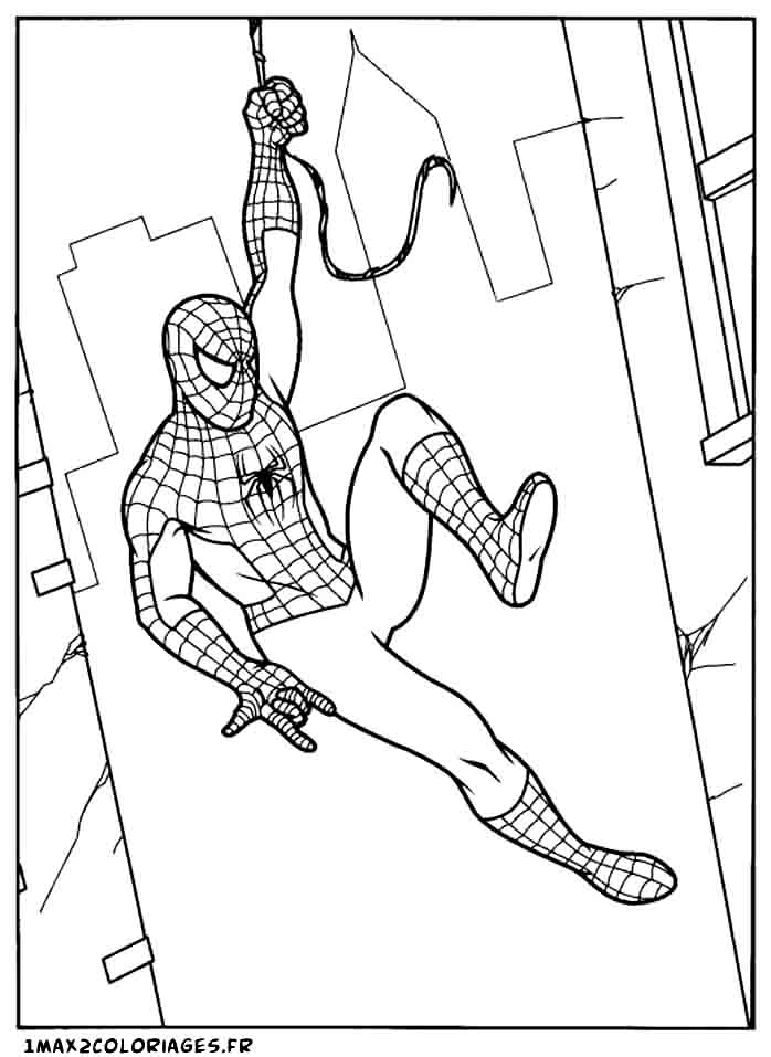 Coloriages de spiderman a imprimer spiderman a manhattan - Coloriage spiderman 1 ...