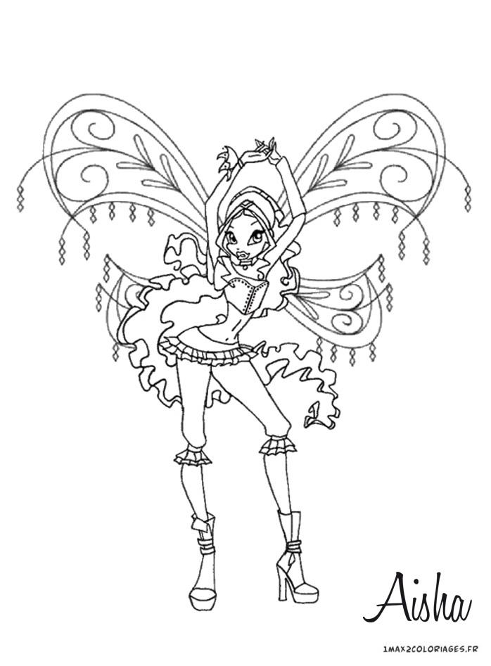 Coloriage Winx Club Layla D Andros Est Un Des Personnages