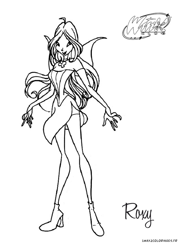 Roxi Winx Coloriage Coloring Pages List