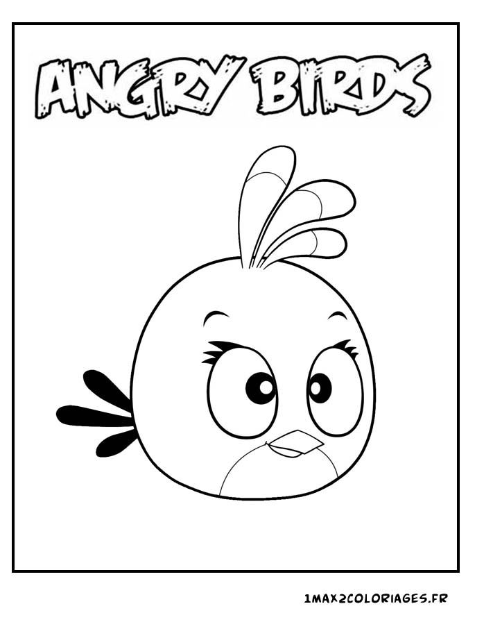 Cloriage angry birds angry birds pink bird a imprimer - Coloriage angry birds ...