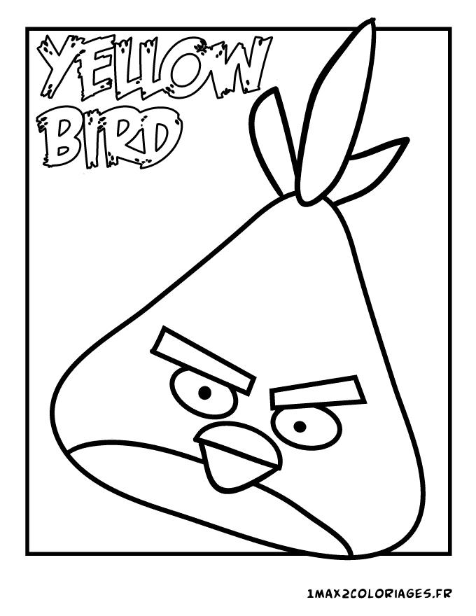 Cloriage Angry Birds Angry Birds Yellow Bird A Imprimer