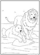 Coloriage des animaux du monde a imprimer et a colorier page2 - Lionne dessin ...