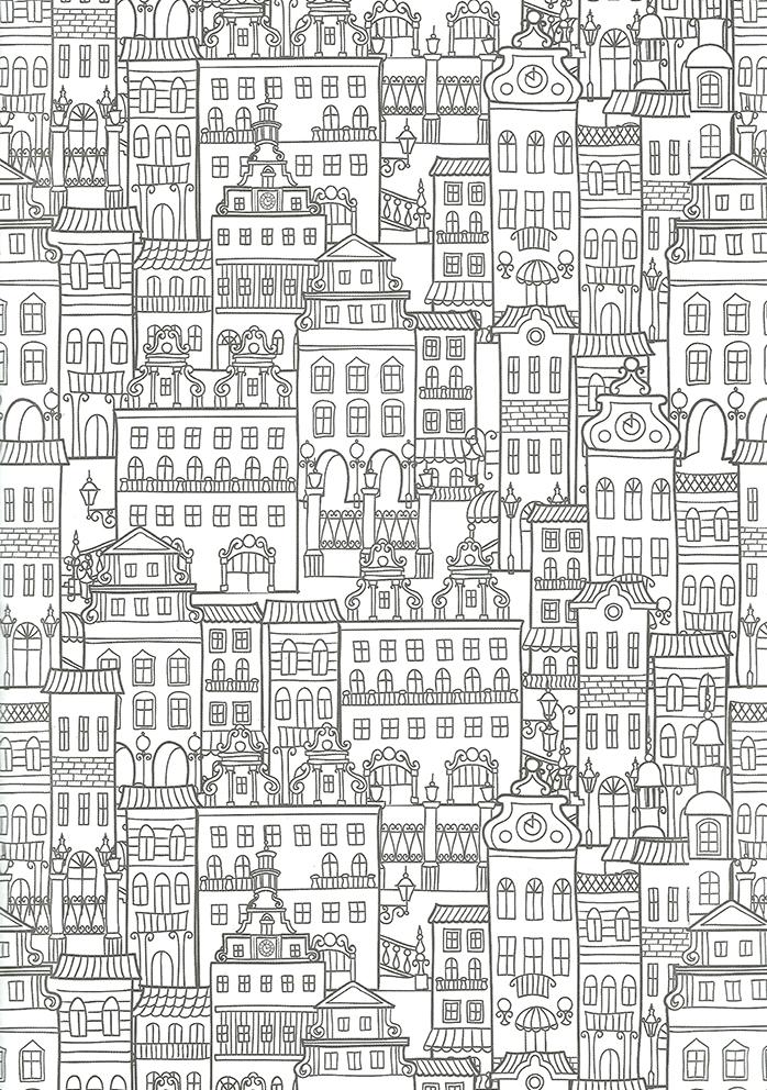 Coloriage Pour Adulte Anti Stress Architectures A Imprimer