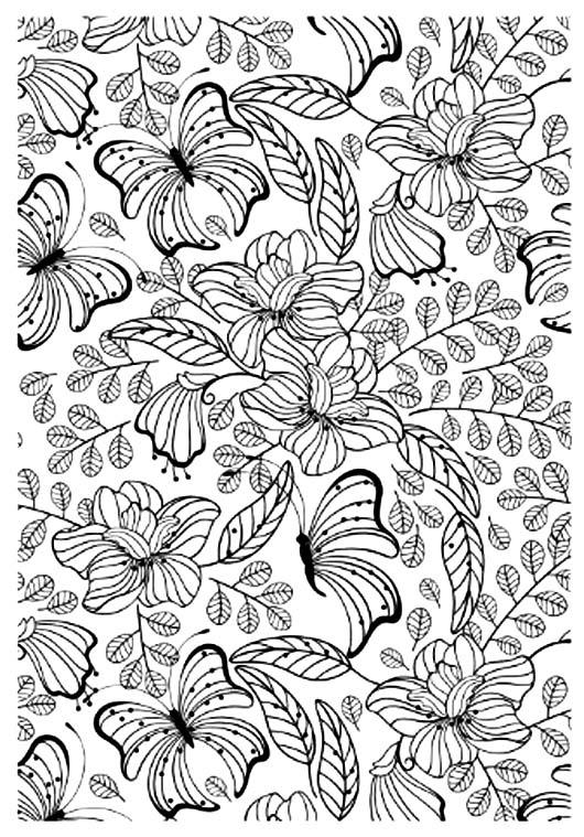Coloriage pour adulte anti stress jolis papillons a imprimer - Coloriage pour adulte ...