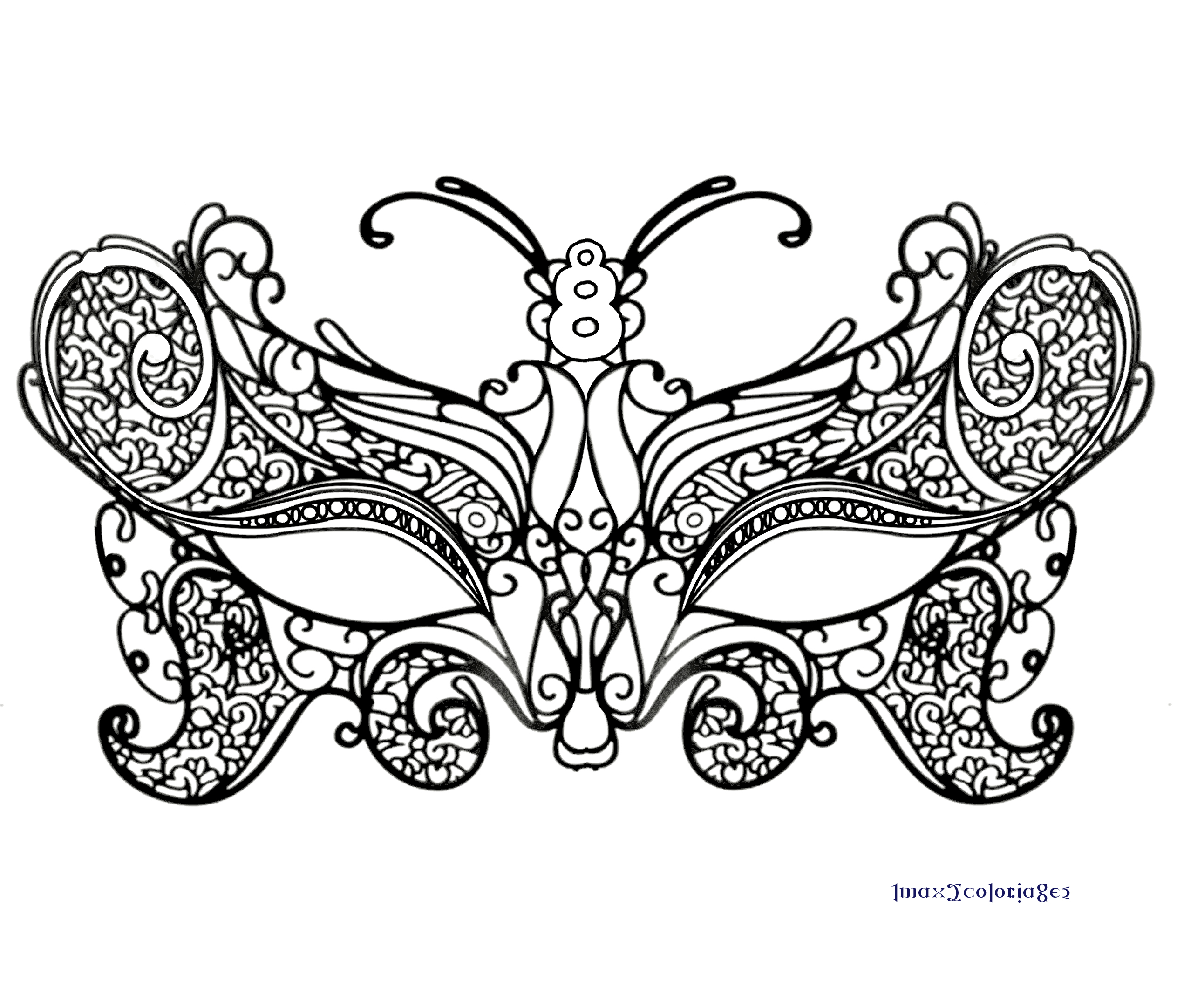 Anti stress coloriage masque - Coloriage masque ...