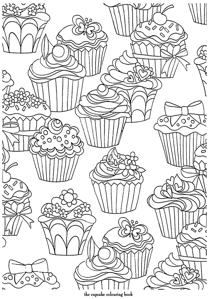 coloriage adulte art therapie divers cupcakes colorier. Black Bedroom Furniture Sets. Home Design Ideas