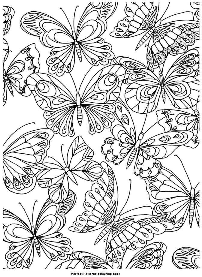 Coloriage adulte art therapie papillons colorier - Coloriage therapie ...