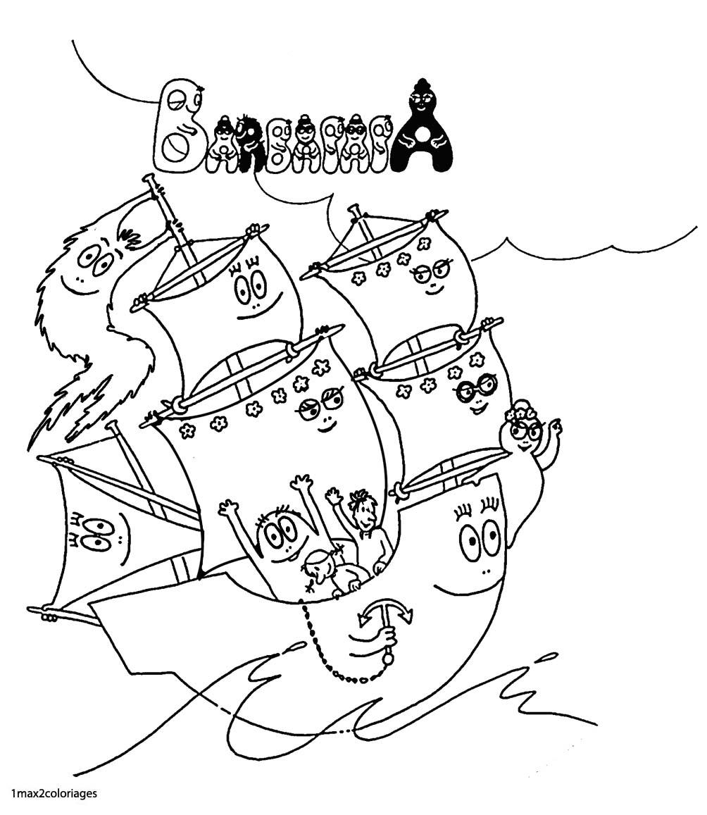 Coloriages barbapapa la famille des barbapapaen en bateau - Barbapapa coloriage ...