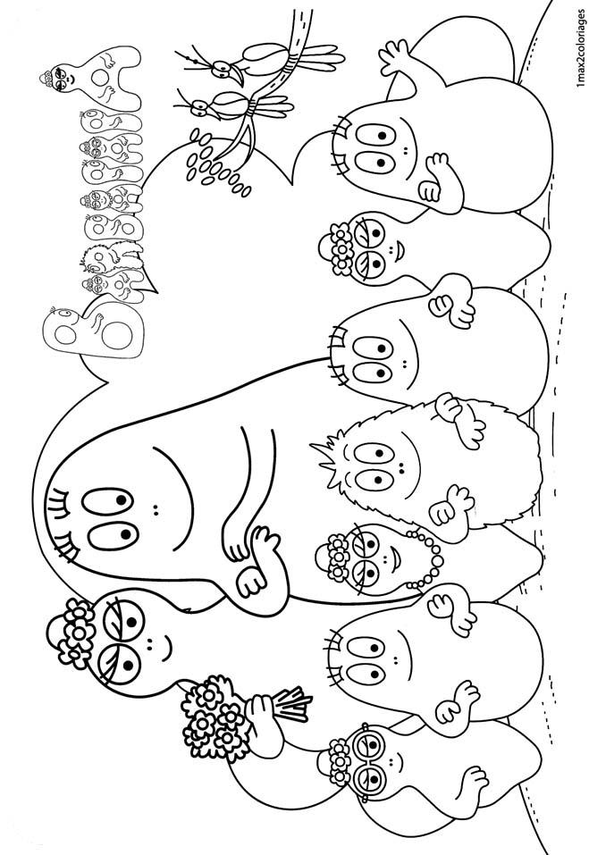 Barbapapa la famille colorier - Coloriage barbapapa ...