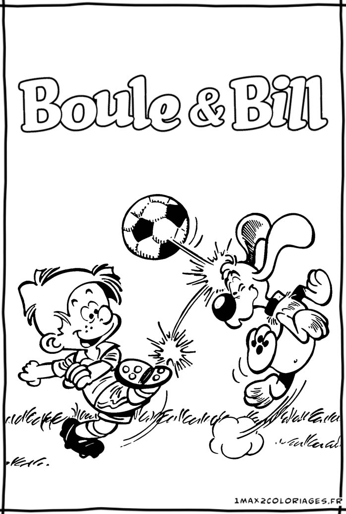 Coloriages de boule bill boule et bill le film boule - Boule et bill coloriage ...