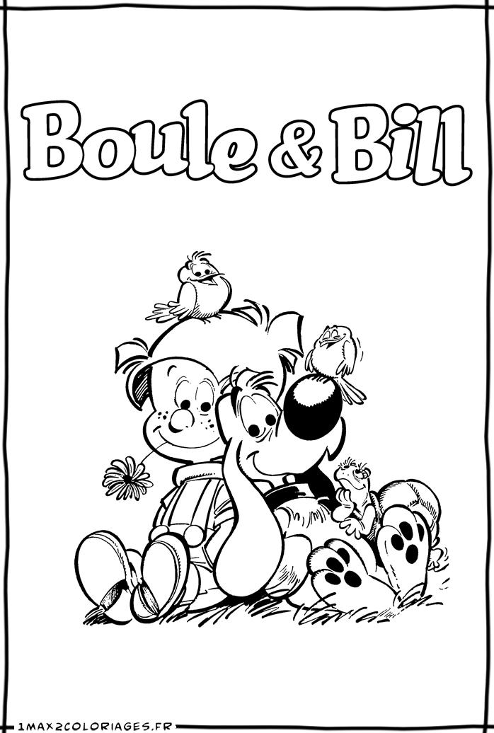 Le boulet - Boule et bill coloriage ...