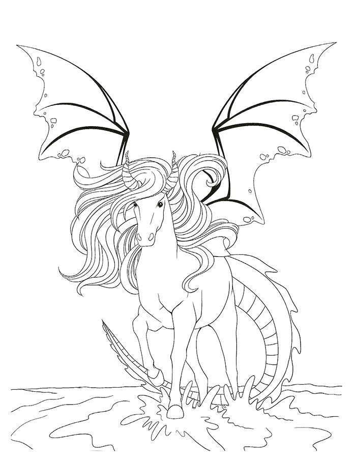 coloriage chevaux magiques - Coloriage De Cheval