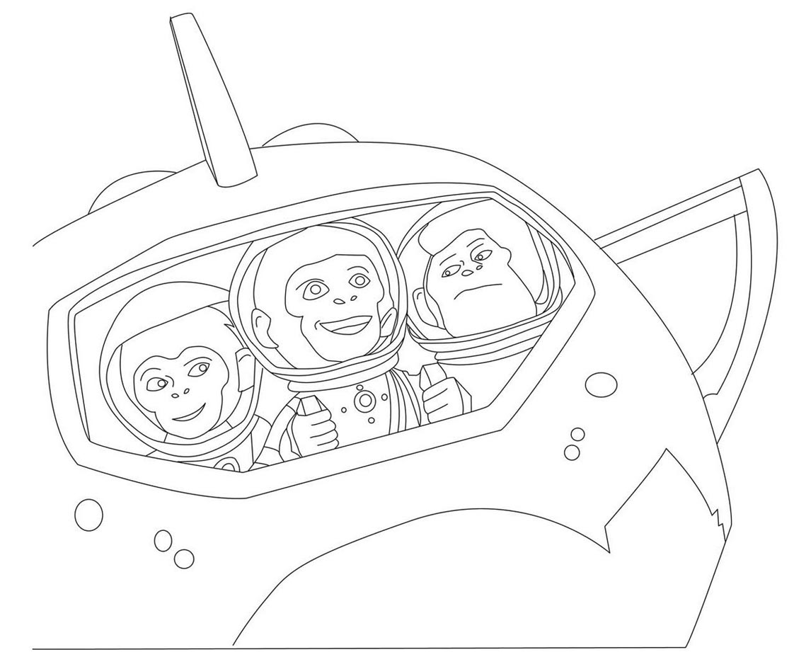 space chimps coloring book pages - photo#38