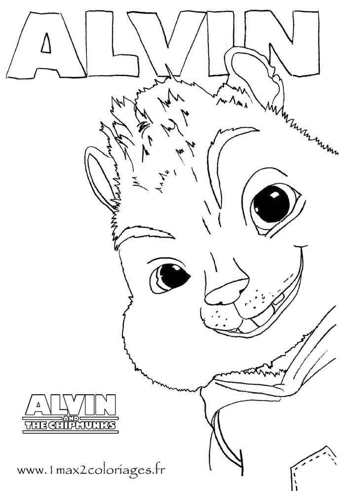 Ou choisir un autre coloriage de alvin et les chipmunks picture to pin on pinterest thepinsta - Coloriage alvin et les chipmunks 4 ...