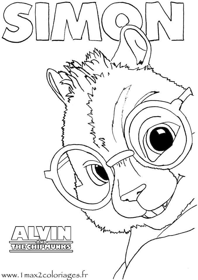 coloring pages of simon - photo#7