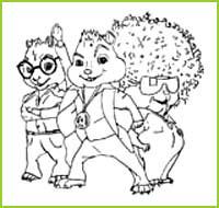 Coloriages du film alvin et les chipmunks a imprimer et a colorier - Coloriage alvin et les chipmunks simon ...