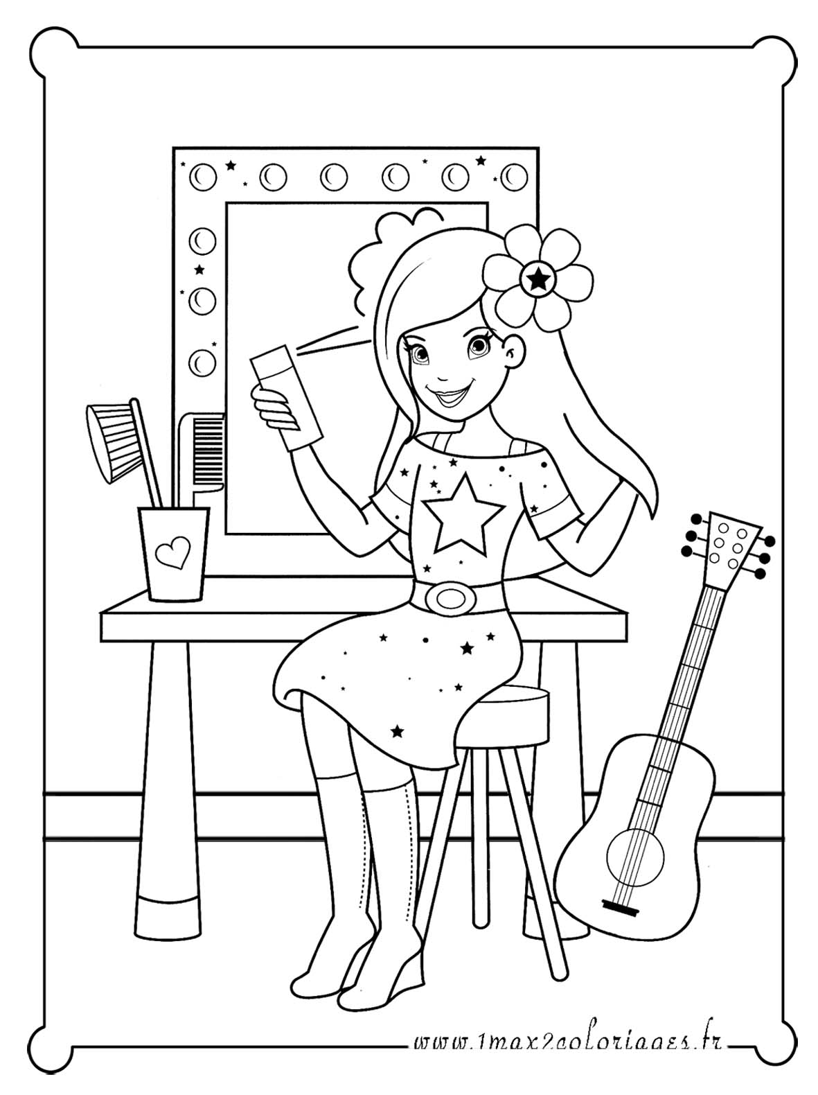 Coloriage star my blog - Dessin a imprimer de star ...