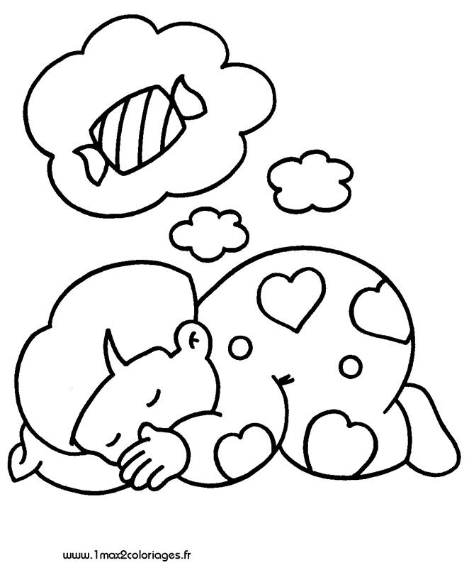 mes premiers coloriage Chut... Bébé dort