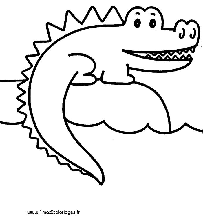 Coloriages Pour Les 3 4 Ans Crocodile A Imprimer