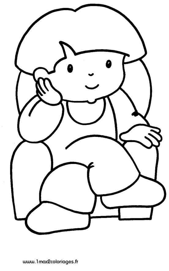 Mes premiers coloriage un enfant dans un fauteuil